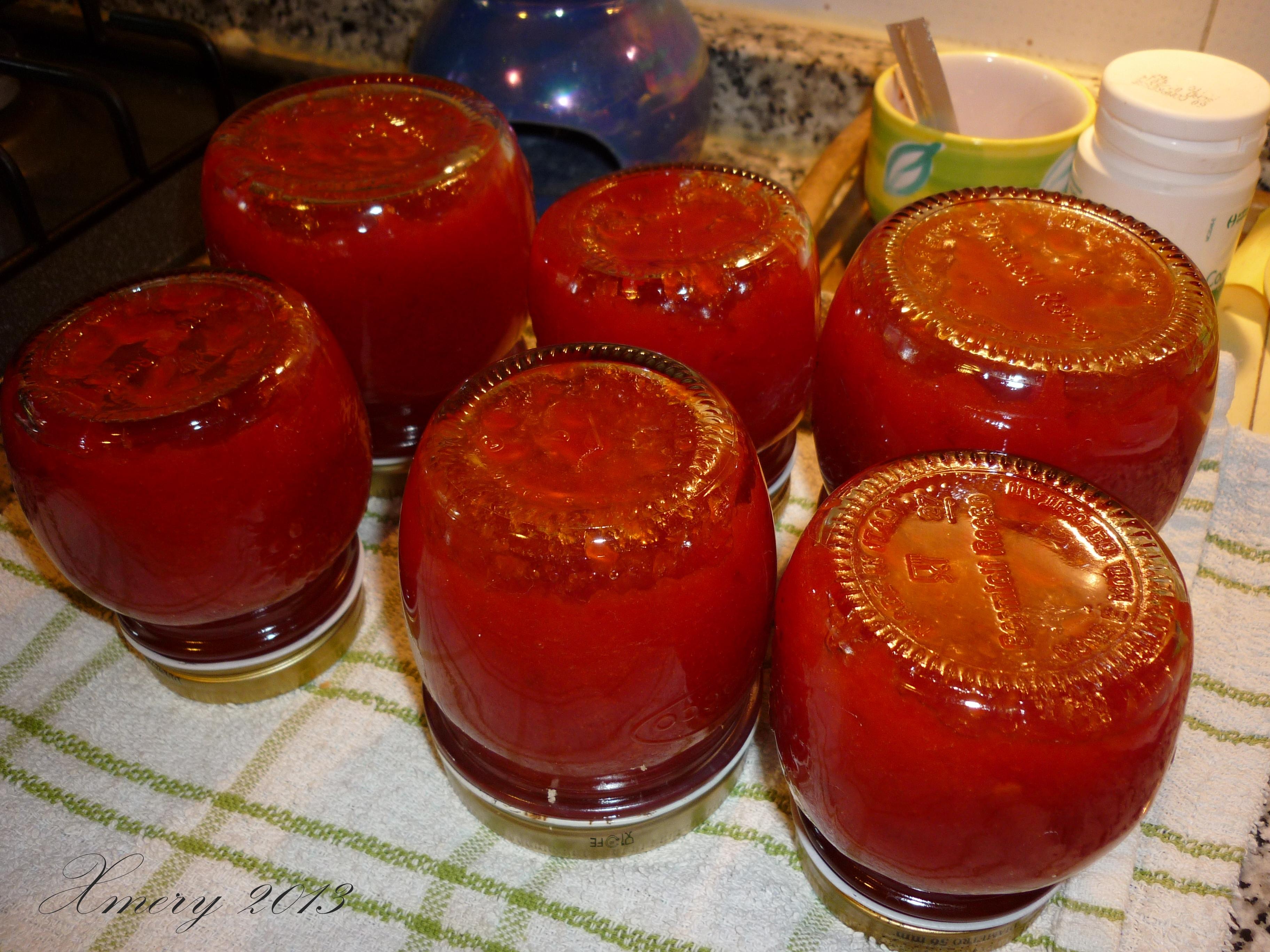 Far Bollire Vasetti Marmellata marmellata rossa al peperoncino piccante. | ilgiardinonascosto